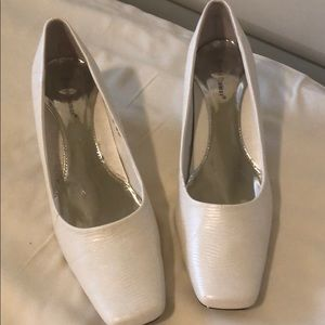 White and silver shoes